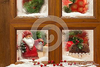 Festive Christmas Window