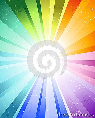 Festive color rays