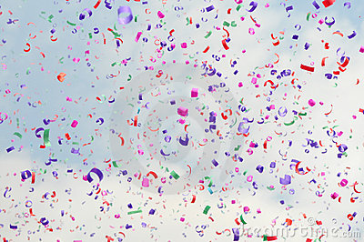 Festive colorful confetti