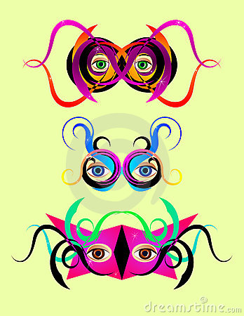 Festive colorful masks
