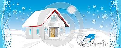 Festive composition for Christmas banner