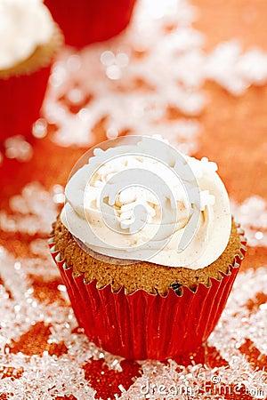 Festive cupcakes, snowflake, glitter