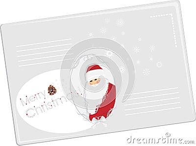Festive envelope with Santa