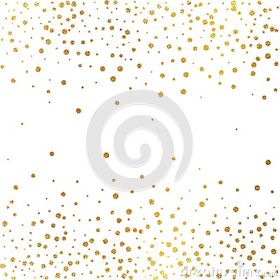 Free Festive Explosion Of Confetti. Gold Glitter Background. Golden Dots. Vector Illustration Polka Dot . Royalty Free Stock Photography - 104112577