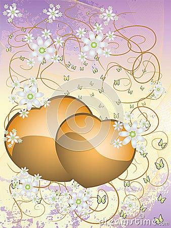 Festive floral postcard