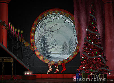 A festive foyer