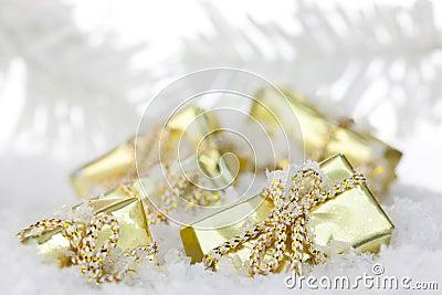 Festive gift boxes