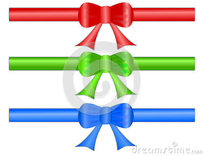 Festive Gift Ribbon Bows