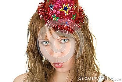 Festive girl