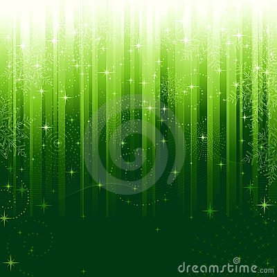 Festive green striped background