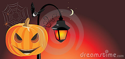 Festive Halloween banner