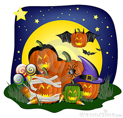 Free Festive Halloween Graphic Royalty Free Stock Image - 6509796