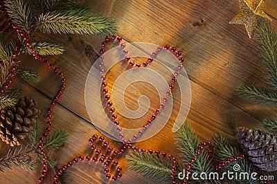 Christmas - Festive Heart Shape - Background