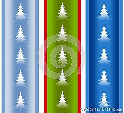 Festive Holiday Christmas Tree Borders