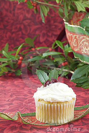 Festive Holiday Cupcake