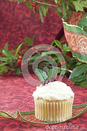 Festive Holiday Cupcake