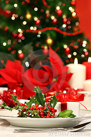 Free Festive Holiday Table With Hol Stock Photos - 3820013
