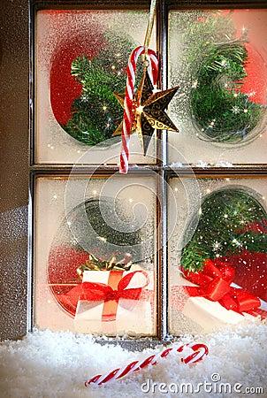 Festive holiday window