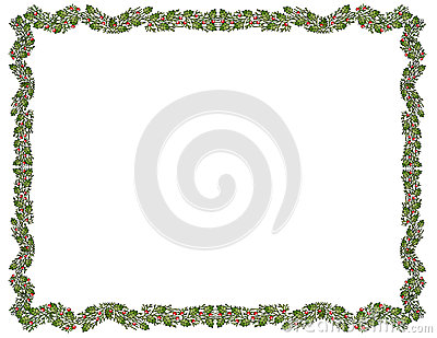 Festive Holly Border