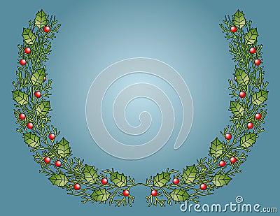Festive Holly Bough