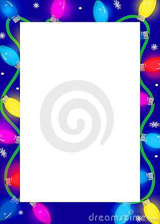 Festive lights border
