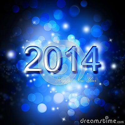Festive New Year 2014 Card