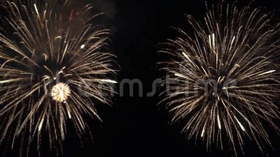 Festive night salute stock footage