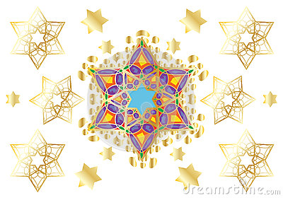Festive oriental ornament