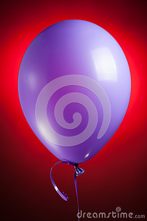 Festive purple balloon
