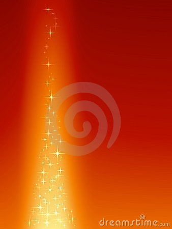 Festive red orange background with magical stars