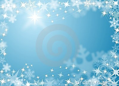 Festive Snow and Ice Background