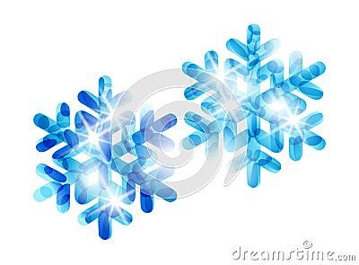 Festive snowflake set