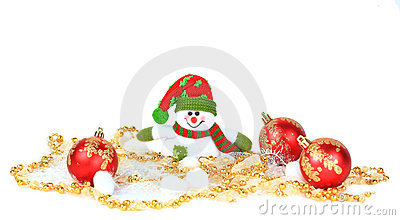 Festive snowman with