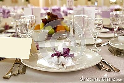 Festive table arrangement