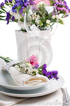 Festive table setting