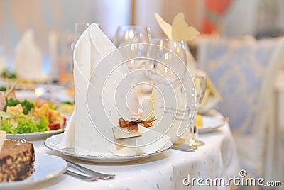 Festive table setting for celebrate