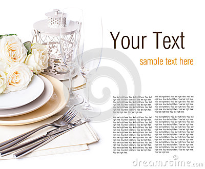 Festive table setting ready template