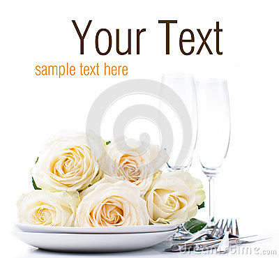 Festive table setting ready template