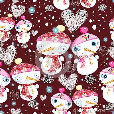 Festive texture of the snowmen