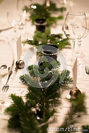 Festive XMas Table