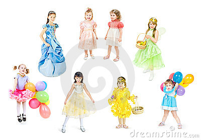 Festively dressed children