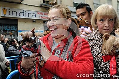 Festivity of St.ANTON . Madrid.SPAIN Editorial Stock Photo