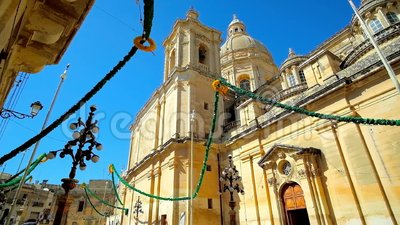 Festiwal dekoracje w Siggiewi, Malta zdjęcie wideo