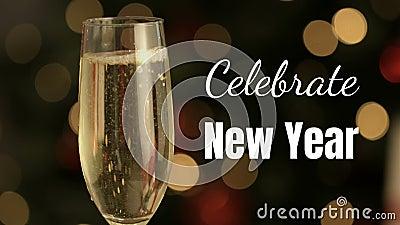 Festliches neues Jahr stock video footage