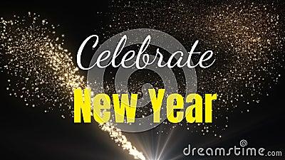 Festliches neues Jahr stock video