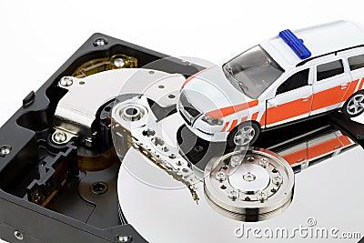 Festplatte des Datenwiederanlaufs des Computers