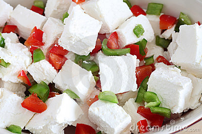 Feta and capsicum salad