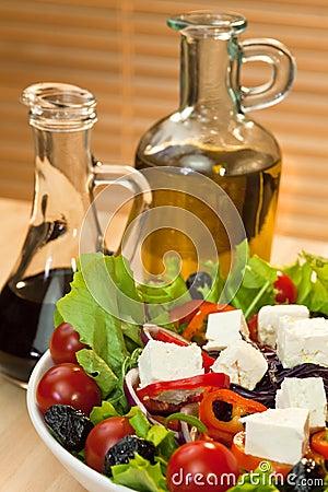 Feta Cheese Salad, Olive Oil & Balsamic Vinegar