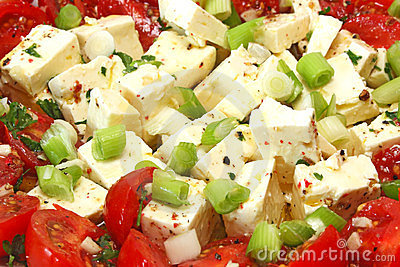 Feta cheese with tomato