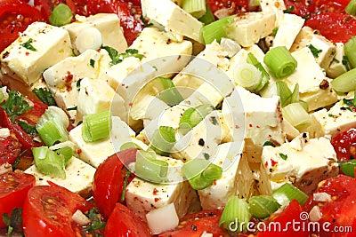 Feta cheese with tomato